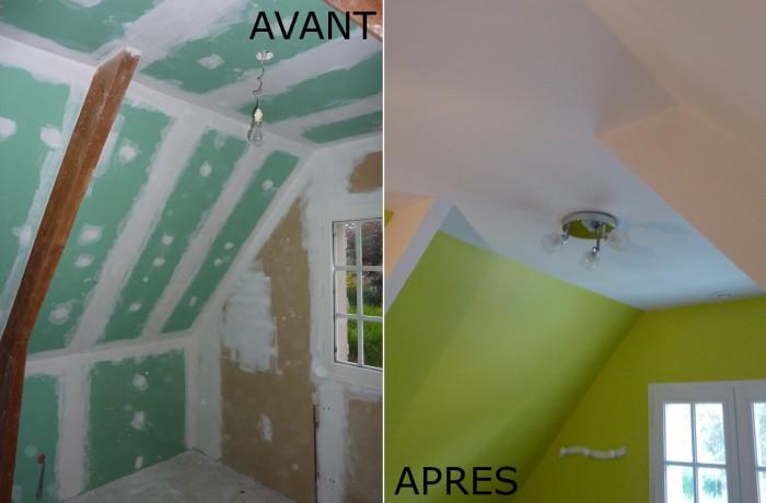 Rénovation au placo-plâtre
